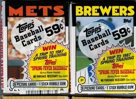 (2) MLB 1986 Topps Cello Baseball Packs Clark Rookie  GS1046 - $2.95