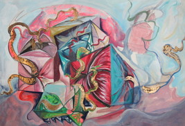 Surrealist abstract fantasy drawing - $118.80