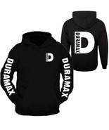 Duramax White Pocket Design Color Black Hoodie Hooded Sweatshirt Front &... - $39.99