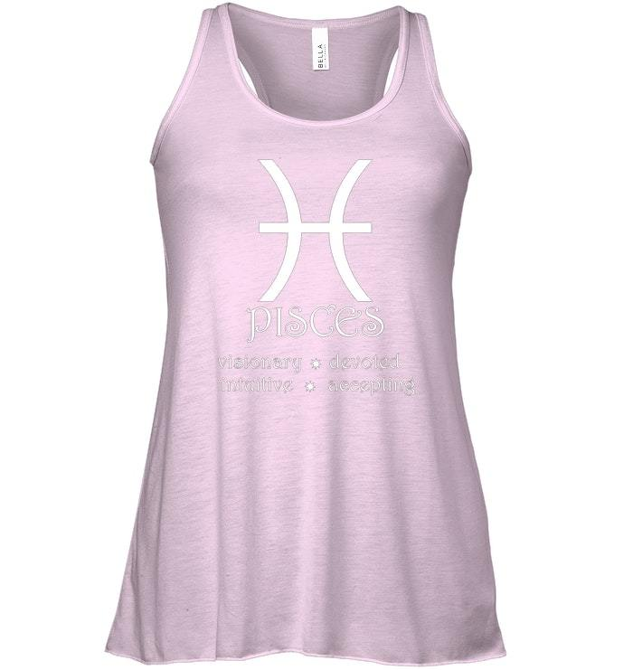Pisces Zodiac Sign Horoscope Traits Star Astrology Flowy Racerback Tank image 3