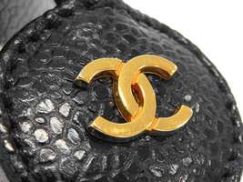 CHANEL Vanity Bag Caviar Leather Black Cosmetic Pouch A01997 Italy Authentic image 4
