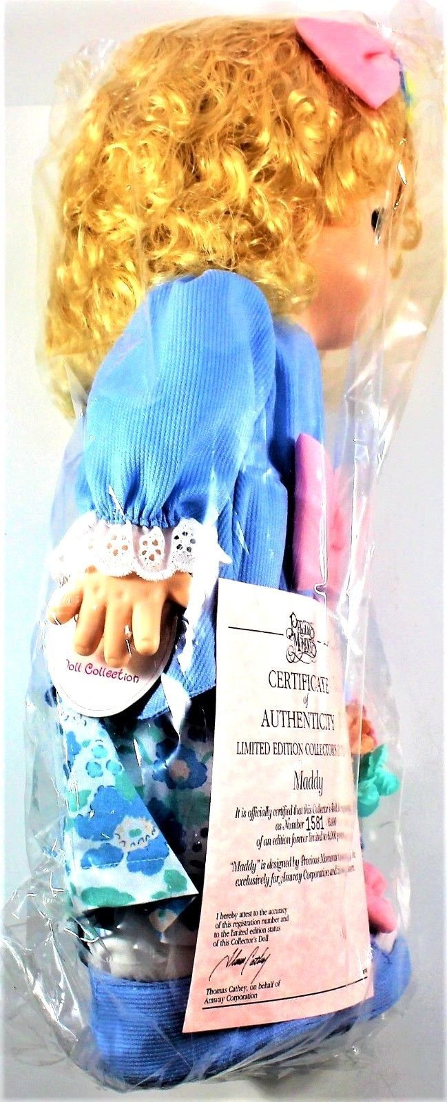Precious Moments Doll Maddy 16 in. Amway Exclusive with Certificate Item#1581