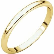 10k Yellow Gold 2 mm High Polished Wedding Band Ring 3-16 - $55.44+