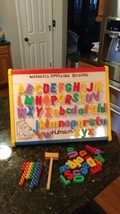 VTG Playskool Magnetic Chalk Peg Board Spelling Educational Toy w Pieces... - $49.65