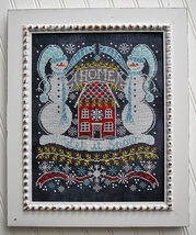 Let It Snow Bungalow #4 Chalk for the Home Series cross stitch chart Hands On De - $10.80