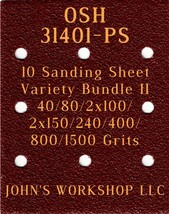 OSH 31401-PS - 40/80/100/150/240/400/800/1500 - 10 Sheet Variety Bundle II - $13.11