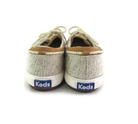 Keds Women Gray Fabric Lace Up Shoe Size 5.5 M Casual Comfort
