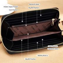 LAORENTOU Women's Genuine Leather Long Wallet Clutch Purse for Women Black image 2