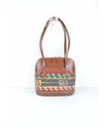 Leather Handbag, Shoulder Bag handbag ,leather and kilim bags,vintage b... - $199.00