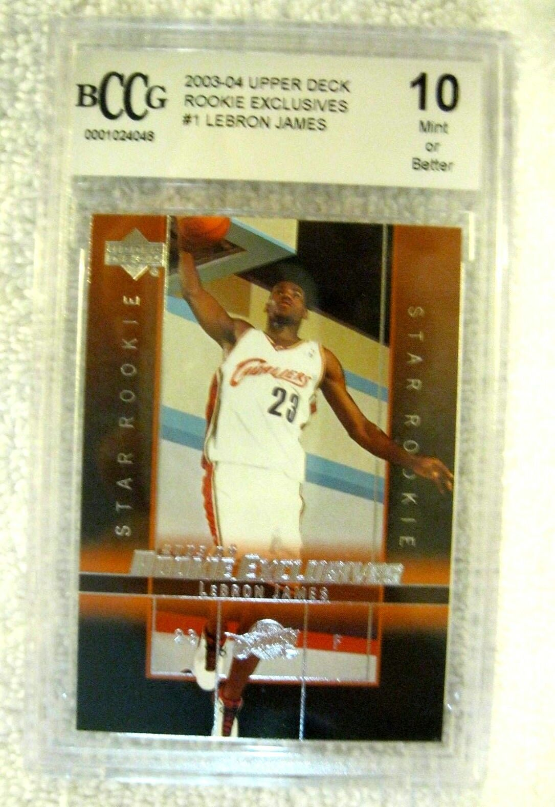 Lebron James RC 2004 Fleer USA Rookie Card GEM BGS 9.5! Cavaliers RC image 9