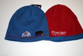 Colorado AVALANCHE- Reebok Nhl Licensed Reversible Knit Hockey BEANIE/CAP - Osfm - £13.03 GBP