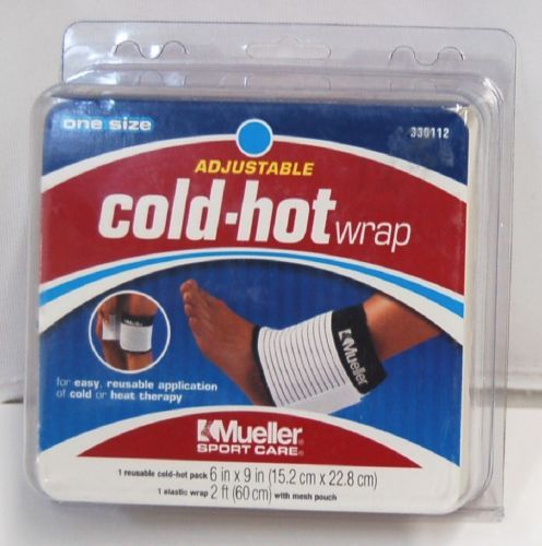 Mueller 330112 Adjustable Hot Cold Wrap One size Colors Black White