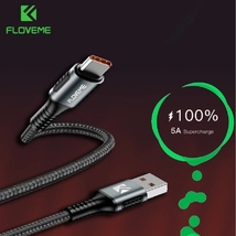FLOVEME 5A Fast Charging USB Type C Cable Supercharge USB C Charging Cab... - $4.99