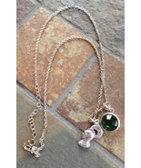 Fashion Jewelry Necklace Pendant Pendants Knight Crusader Green Faceted ... - $15.00