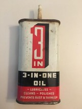Tin Oiler Can Vintage 3-in-one Litho 3 In 1 Empty 3 oz (17-1183) image 1