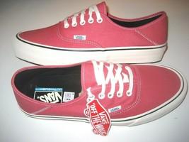553590d31e Vans Mens Authentic SF Salt Wash Desert Rose Pink Canvas Skate shoes Siz.