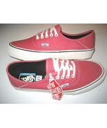 Vans Mens Authentic SF Salt Wash Desert Rose Pink Canvas Skate shoes Siz... - $59.39