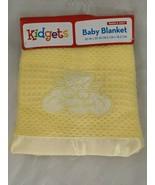 Kidgets Baby Blanket Yellow Heaven Sent Bear Angel Waffle Weave New - $29.95