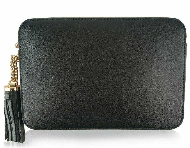 Authentic Michael Kors Black Ginny Star Studded Camera Crossbody Messenger Bag