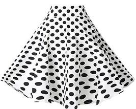 BI.TENCON Women's 1950s Vintage High Waisted White and Black Polka Dot F... - $24.82