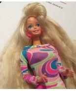 Vintage Barbie TOTALLY HAIR blonde doll wearing dress - $49.99