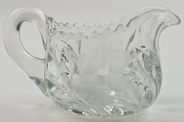 Tiffin Franciscan Glass Cut 83 Clear Cut Floral Pattern Creamer 167 Vintage - $14.99