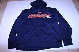 Men's Denver Broncos L Athletic Hoodie Hooded Sweatshirt (Navy Blue) NFL... - $18.49