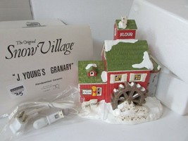 DEPT 56 51497 J. YOUNG'S GRANARY SNOW VILLAGE LIGHTED BUILDING W/CORD D17 - $24.45