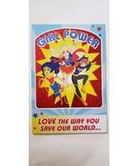 "Girl birthday greeting card DC superheroes "" girl Power love the way you... - $4.99"