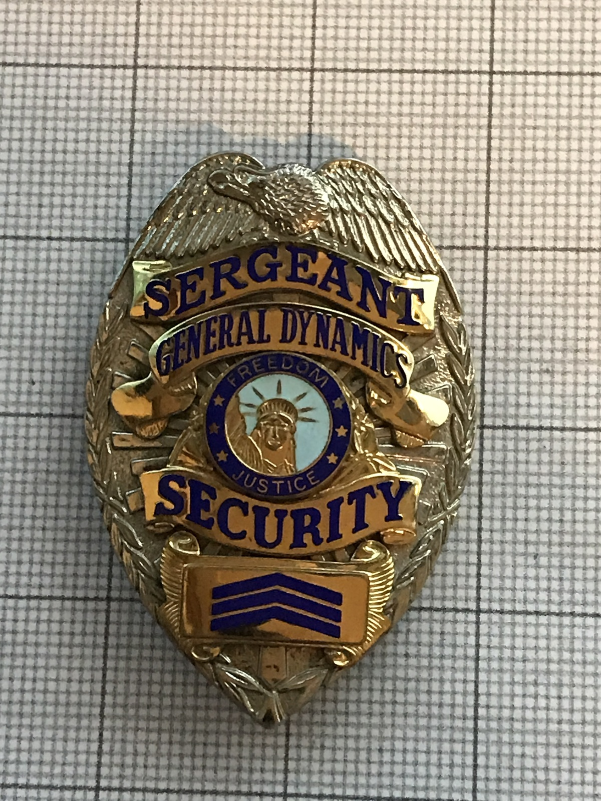 Primary image for General Dynamics Sargent Security Police Badge