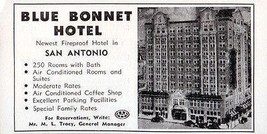 Blue Bonnet Hotel San Antonio Texas 250 Rooms w Bath 1956 Travel Tourism AD - $10.99