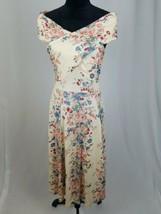 Asos women 6 romantic off shoulder criss cross fit & flare a-line dress - $37.62
