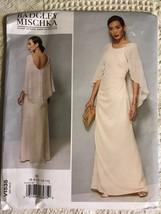 Vogue Sewing Pattern V1535 Designer Side Pleating Dress & Cape Size 6-14 - $32.00