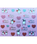 BANG STORE Nail Art 3D Decal Stickers Valentine's Day Best Wishes Sheep ... - $3.67