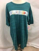 "Lularoe Jaspeado Verde Gráfico ""Patrick"" Camiseta, Mujer Talla XL, Nwt - $19.93"