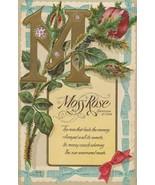 Vintage Postcard Moss Rose Confession of Love Embossed Unused - $8.90