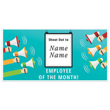 Shout Out Employee Of The Month Business Banner - $19.31+
