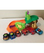 Fisher Price Lil Zoomers Safari Sounds Jungle Ramp Playset and 6 Zoomer ... - $24.99