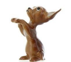 Hagen Renaker Pedigree Dog Chihuahua Begging Brown and White Ceramic Figurine image 4