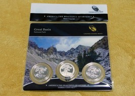 2013 GREAT BASIN NATIONAL PARK QUARTER COIN 3 COIN SET