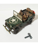 Vintage Arnold 2500 US Army Military Jeep Wind-Up Tin Toy 1950's W. Germ... - $272.25