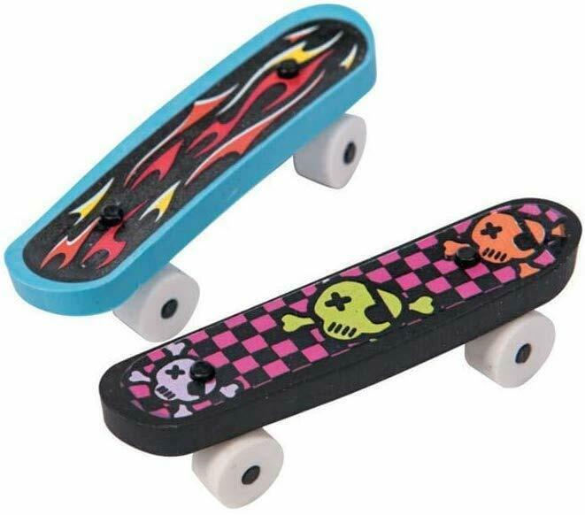 """Rubber Skateboard Erasers (12 Pack) 2 3/8"""""""