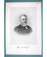 MARK HOYT Connecticut Merchant - 1895 Portrait Antique Print - $12.29