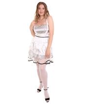Adult Women's Sexy French Maid Uniform Light Silver Costume HC-1282 - £29.71 GBP