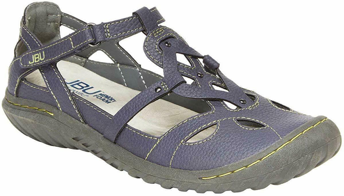 NEW JBU by Jambu Denim Blue Ladies' Sydney Flat Sandals for Women JB19SNY45