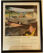 1957 Oldsmobile Starfire 98 Holiday Coupe Antique Car Ad - $14.99