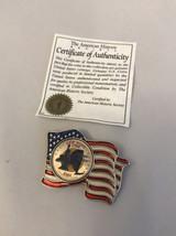 American Flag Lapel Pin - 2001 NEW YORK Colorized State Quarter - Pledge... - $6.93