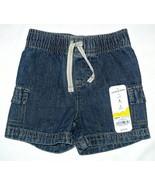 Toddler Jumping Beans Boys Pull-On Denim Shorts Elastic Waist Band - $9.99