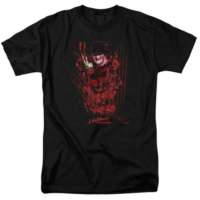 A Nightmare On Elm Street t-shirt Freddy Krueger retro horror graphic tee WBM554