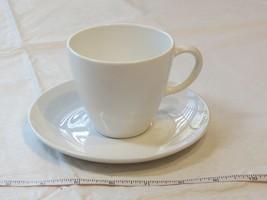 Corning Centura White Coupe Tea / Coffee Cup & Saucer Set Vintage - $16.02